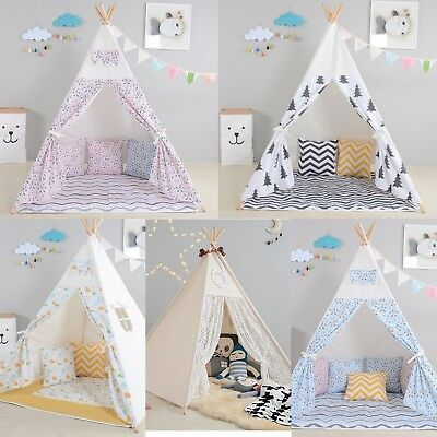 Childrens Wigwam/ Teepee/ Play tent - some with ground sheets - various colours