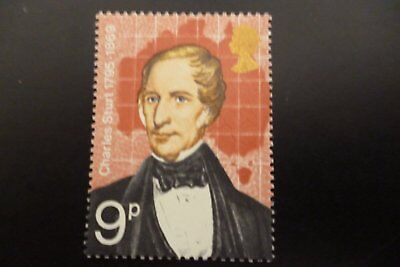 GB Error Of Missing Phosphor 9p Charles Sturt Un/Mint 927 ey  UK. Buyers Only