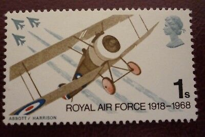 GB Error Of Missing Phosphor 1/- Royal Air Force Un/Mint Cat £10.00  UK Buyers O