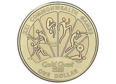 $1 one dollar coin 2018 - GOLD COAST XXI COMMONWEALTH GAMES - Design 1 - mint