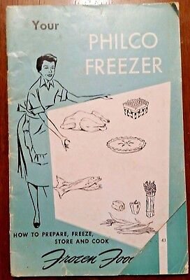 "1953 Manual for Philco Freezer, ""Your Philco Freezer"",  Good Vintage Condition"