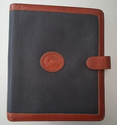 100% Authentic Dooney & Bourke Vintage Planner Agenda Organizer... 100% Leather.