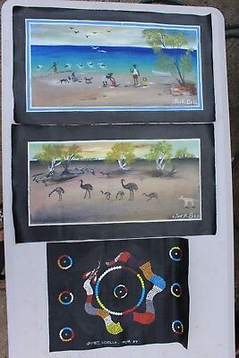 Aboriginal art: Painted by Wik artists, Cape York.