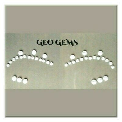 Geo Pearl Gems  for Face or Body Art  4 Piece Temporary Tattoo (5)