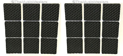 18 Foam Rubber Furniture Floor Scratch Protector Bumper Pads Non-Skid Self Stick