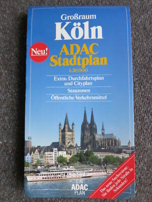 Koln Germany City Map 1:20.000