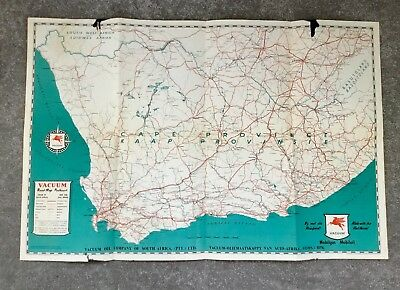 1937 Antique MAP of Cape Province Union of South Africa no. 131 - Vacuum Oil Co.