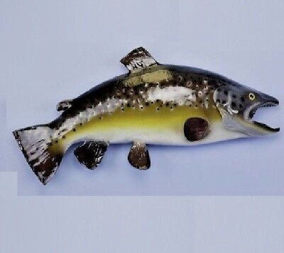 """Taxidermy Stunning Brown Trout  Wall Mount/ Wall Sculpture 23"""" Fish Mount"""