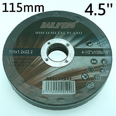 "10PC 115mm 4-1/2"" CUTTING DISC WHEEL 4.5"" Cordless Angle Grinder Stainless Steel"