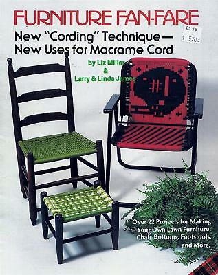 Furniture Fan-Fare Macrame Lawn Patio Chair Footstools Booklet 22 Projects