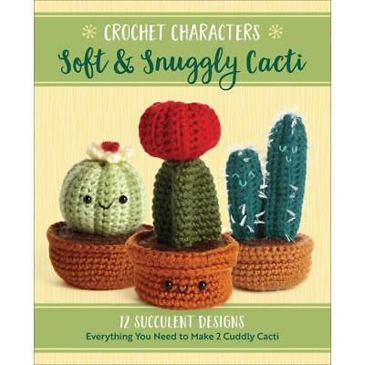 CROCHET KIT Soft & Snuggly Cacti You Get 2 CACTUS Becker & Mayer 12 Patterns New