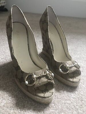 GUCCi Wedge sandals Size 38 UK 5