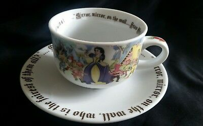Paul Cardew Tea/Coffee Cup & Saucer Disney's Snow White Designed in England New