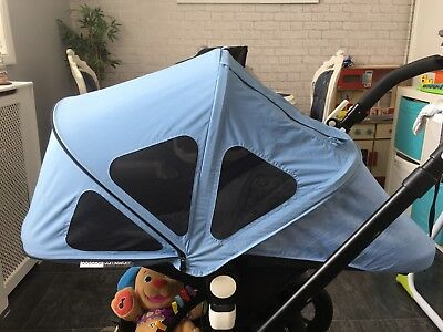 Bugaboo Cameleon 3 Breezy Sun Canopy/hood ice blue also fits cam 1&2