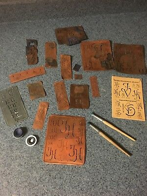 Antique European German Copper Monogram Stencils Johann Merkenthaler catalog