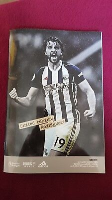 West Bromwich Albion vs Liverpool Football Programmes (20/4/18)(Prem 2017/2018)