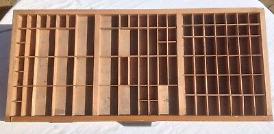 Vintage Printers Wooden Type Tray/Case