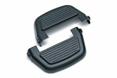 Kuryakyn 8877 Black Finned Passenger Rear Floorboard Board Covers Harley FLH FLS