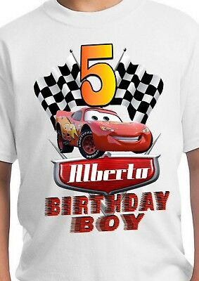 aae1ad25f Lightning McQueen Shirt / Cars Party Supplies / Car Shirts / Cars Birthday  Party