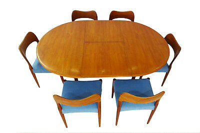 Danish Mid century teak dining set by Arne Hovmand Olsen for Mogens Kold