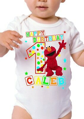 Elmo Inspired Birthday Shirt Personalized Custom Name And Age
