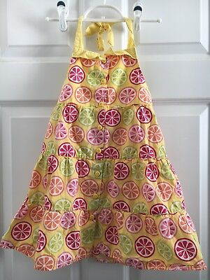 Gymboree Citrus Cooler Girls Size 5 Fruit Dress NEW NWT White Lemon Lime Orange