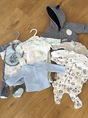 Unisex/boy Baby Clothes Bundle For A Tiny Baby. Some Items New With Tags!