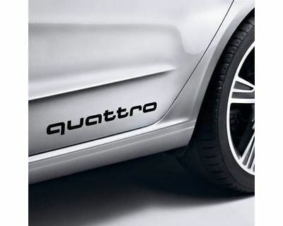 2 x Audi QUATTRO Side Decals / Stickers  PRICE DROP ALL MUST GO