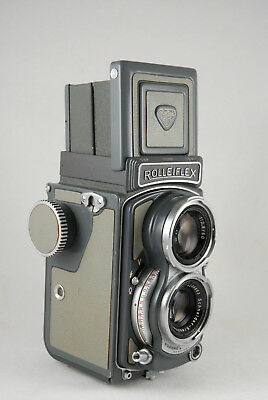 Rolleiflex Baby Gray Rollei , Vintage TLR 4x4 Camera in Excellent Condition