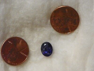 Tanzanite 3.17 Carats 8x10 MM. Oval Natural Inclusions Highly Flawed Blue Color