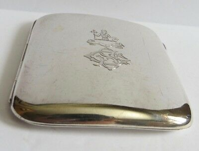 Excellent Chester Sterling Silver 1894 cigarette case