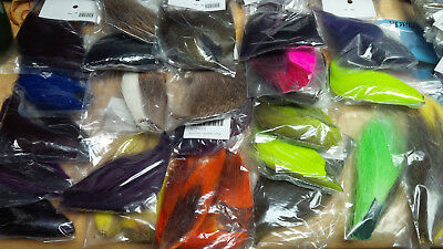Deer Tail / Bucktail Pieces, Assorted Colors and Sizes, Dyed and Natural
