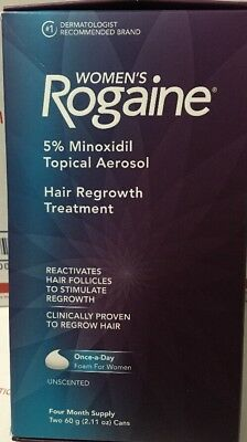 Women's Rogaine Hair Regrowth Treatment FOAM 4 Month Supply. Damaged Box.