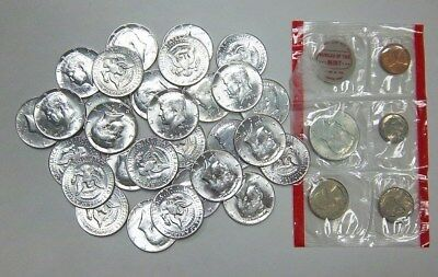 $15.00 Face Value 40% Silver 1965 - 1969 Kennedy Half Dollars Great Cond.