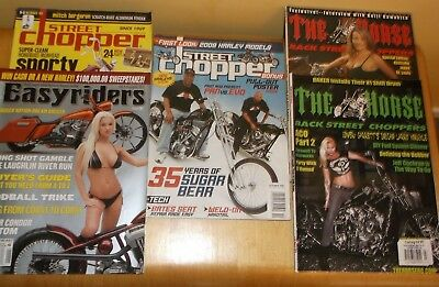 Street Chopper, The Horse & Easyriders Bike Magazines 5 Assorted Copies  (5)
