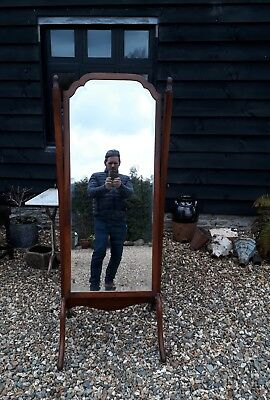 edwardian mahogany cheval dressing mirror bedroom standing bathroom