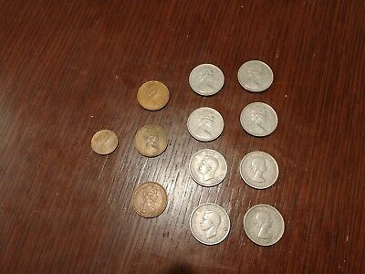 Lot Of 12 Old English Coins