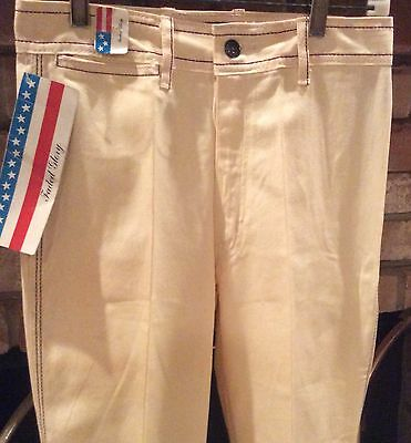Faded Glory Sportswear AN-2935 Off White 70s Vintage Boot Cut Jeans