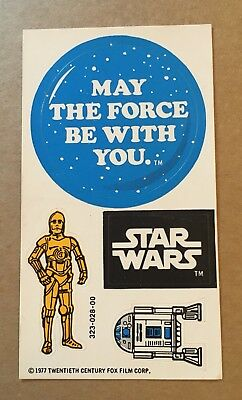 Vintage Kenner Star Wars Early Bird Stickers ORIGINAL 1977