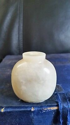 Chinese Old White Jade Snuff Bottle