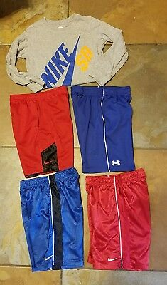 Boys Nike lot 1 Long Sleeved top and 3 pairs of Nike shorts Under armour  Size 6