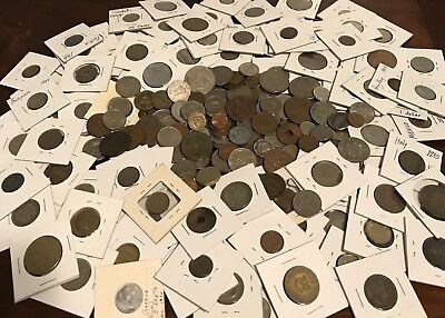 HUGE !! Lot of Foreign / World Coins Some In Flips various countries .99 Start
