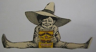 Vintage ARMOUR Canning Co. STAR BRAND Pork and Beans Advertising Chicago Die Cut