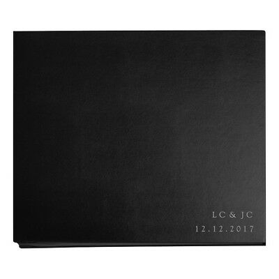 NEW Personalised Boxed Leather Photograph Album