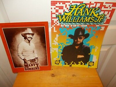 HANK WILLIAMS JR. Tour Program from 1988 + MARTY ROBBINS Tribute (1984)