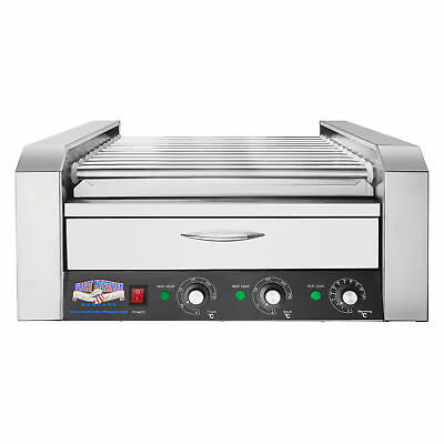 Great Northern 11 Roller Grilling Machine with Bun Warmer Cooks 30 Hot Dogs