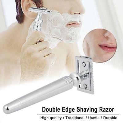 Men's Traditional Classic Double Edge Stainless Steel Shaving Safety Razor F4H9