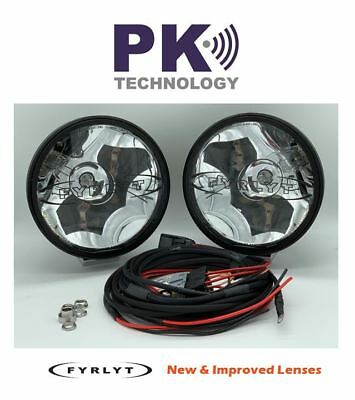 FYRLYT 5000 Driving Lights (PAIR) with wiring Loom &Security Nut Kit