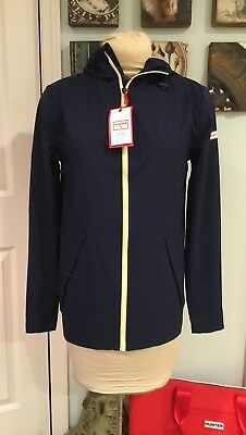 Hunter for Target Adult Unisex Packable Rain Coat - Navy XS Extra Small NWT
