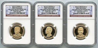 2016 S Presidential Dollar Proof Set NGC PF70 UC First Releases 13CPS w/ Reagan